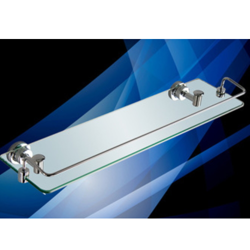 Steel Single Tier Towel Rack With Glass Panel KD-9213A