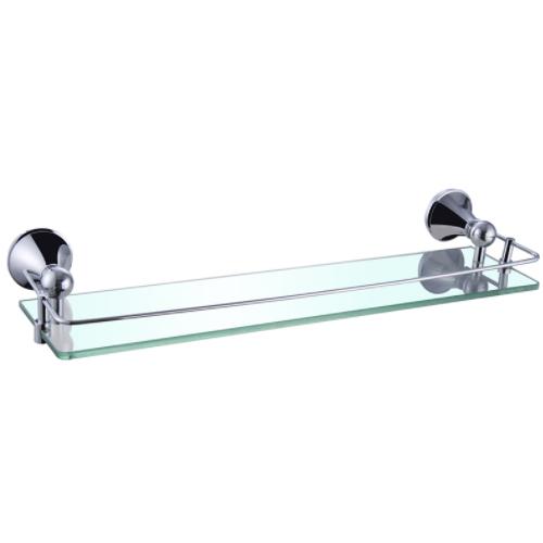 Steel Single Tier Towel Rack With Glass Panel KD-9713