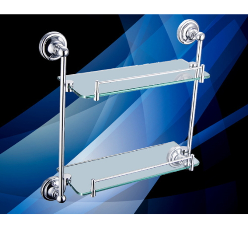 hotel bathroom designs  dual tier glass shower corner wall shelf KD-9014