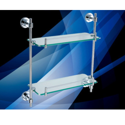 wall mounted bathroom decorative hanging glass wall shelf KD-9214