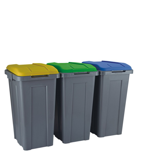 50L sepration dusbtin with different colour lid PP link dustbin  MV-50E-5
