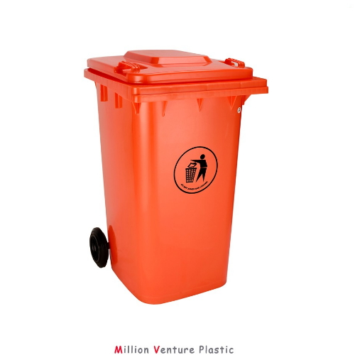 heavy weight plastic dustbin garbage bin 240L HDPE dustbin  ZE-240A-1