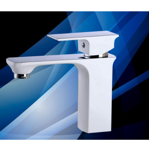 New cheap upc square brass white paint bathroom basin faucet KD-5506