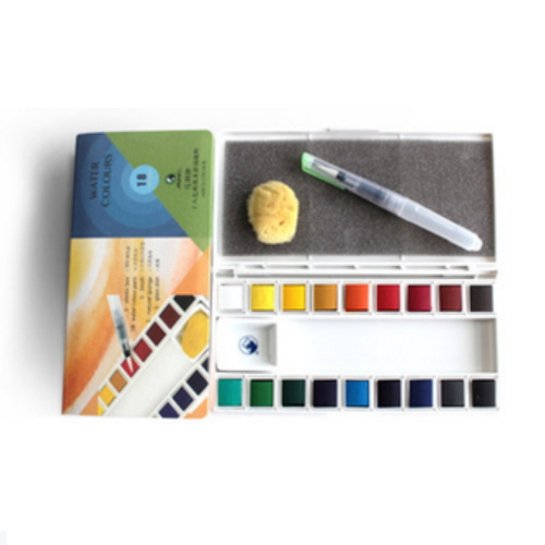 18colors solid watercolor set cake watercolor set   W-4018