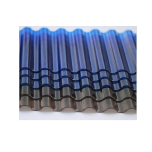0.8mm clear and colored polycarbonate corrugated waved sheet   ST51