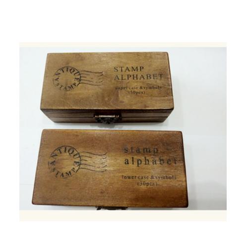 30 pcs Vintage Wooden Lowercase Alphabet Letters Rubber Stamps Seal set   ZY67
