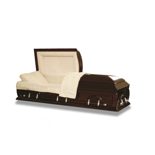 TD--E24 Factory outlet solid paulownia wooden coffin of full couch