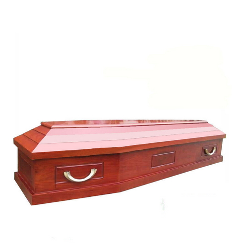 TD--E07 China manufacturer solid paulownia wooden coffin for sale