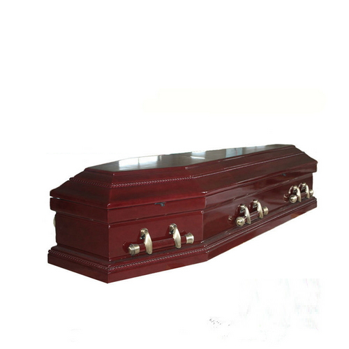 TD--E05 Funeral equipment wooden coffin of full couch
