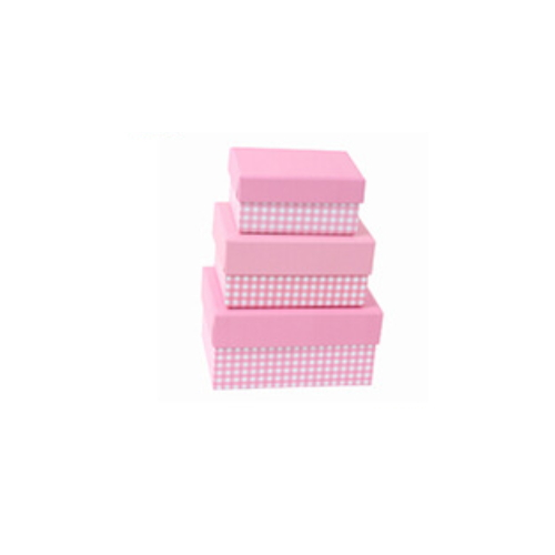 Fancy Creative Pink Paper Packaging Box     HZ-001-1
