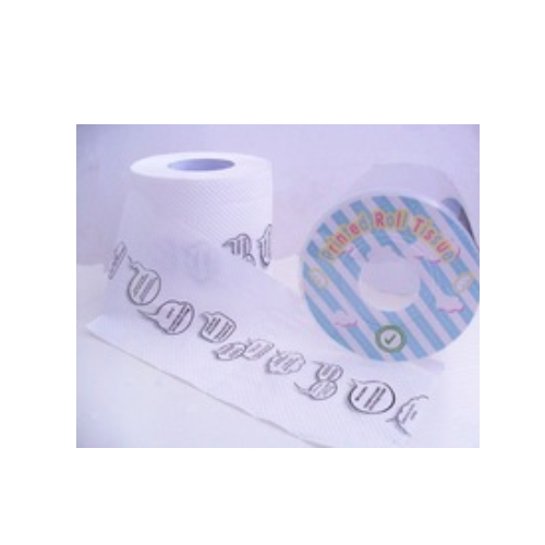 Printed white feature and black logo toilet paper for hotel    AY-R532
