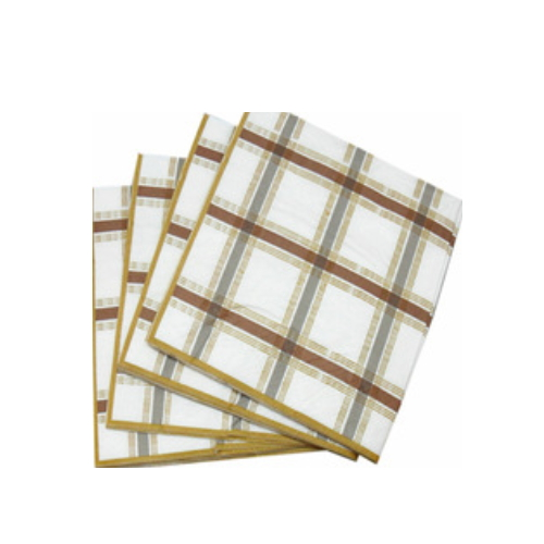 paper napkins manufacturers restaurants plaid paper napkin      AY-151