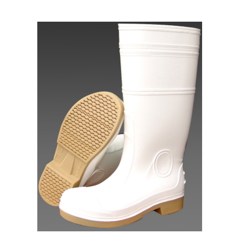 low price white pvc working safety gumboots for industry