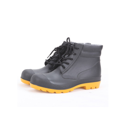 good quality steel toe and steel midsole black pvc safety working boots   QH24
