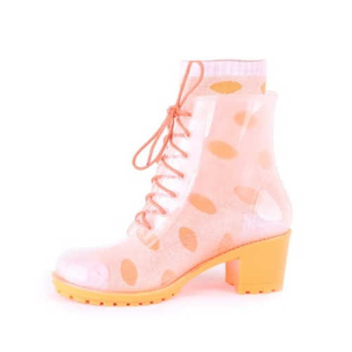 latest ankle clear high heel rain boots for women sexy high heel ankle boots   QH105