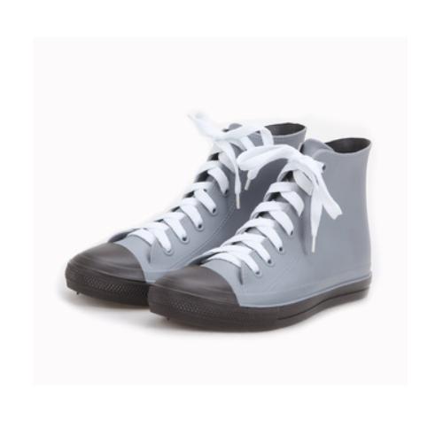PVC Material Lace-up Women Casual Rain Boots Manufacturer   QH180