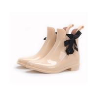 PVC Material Chelsea Style Pretty Color Women Rain Boots    QH182