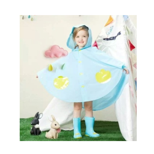 latest new design fashion kid rain coat   QH196