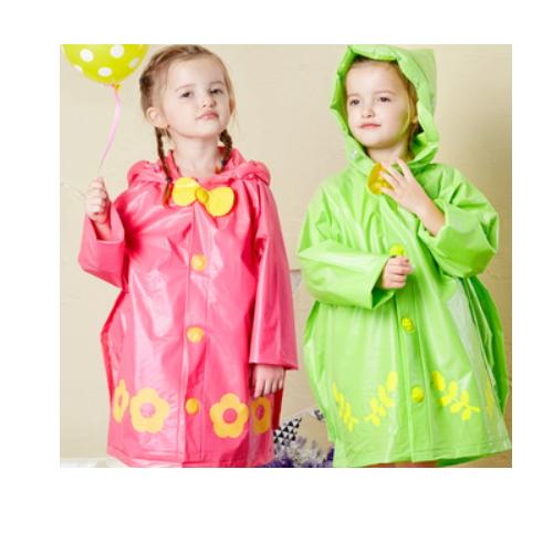kids raincoats eva/PVC poncho with cartoon animal    QH200