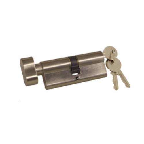 Euro profile oval brass key cylinder lock with knob  JH008