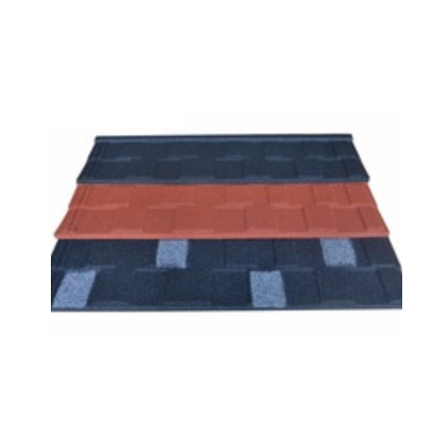 1340*420mm black and white shingle stone coated metal roofing tile   JH155