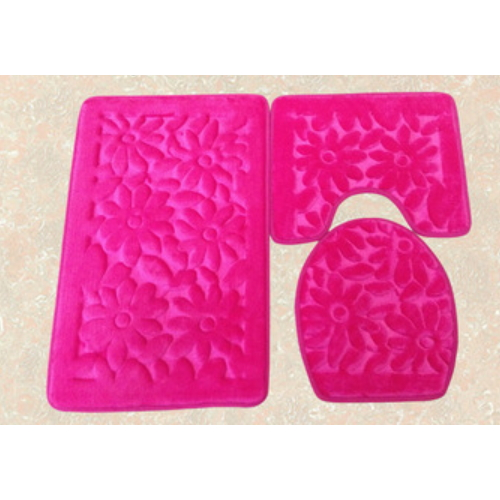 Anti-slip Pvc backing memory foam bathroom carpets    LZ-1101