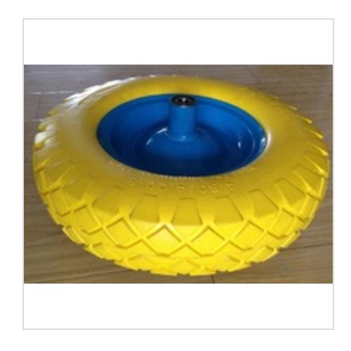 pu foam inflatable pneumatic rubber wheel  FR1603