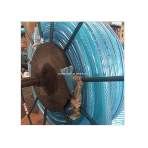 Flexible Corrugated Plastic water hose blue color 003