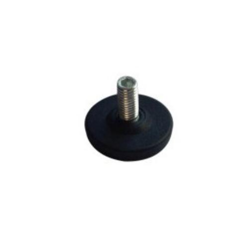 round shape screw type plastic swivel adjust foot     JPL005