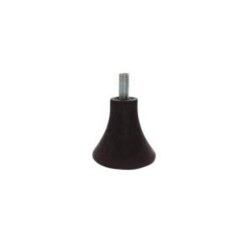 Tower shape black screw type plastic adjustive feet     JPL803