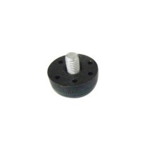 Round black M8 metal screw table height adjusters JPL806