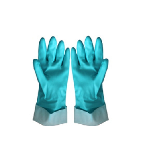 Colored discount and safeskin nitrile flock lined gloves manufacture price   HY52