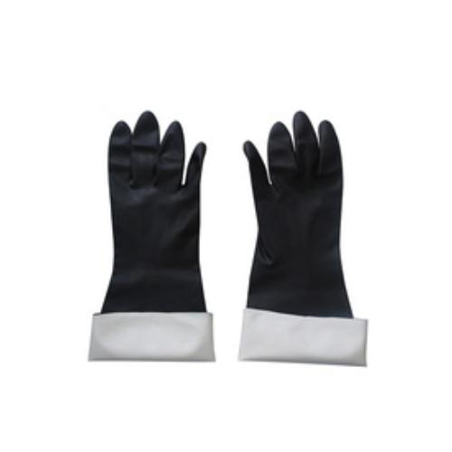 Black high quality neoprene chemical resistant industrial work gloves   HY53