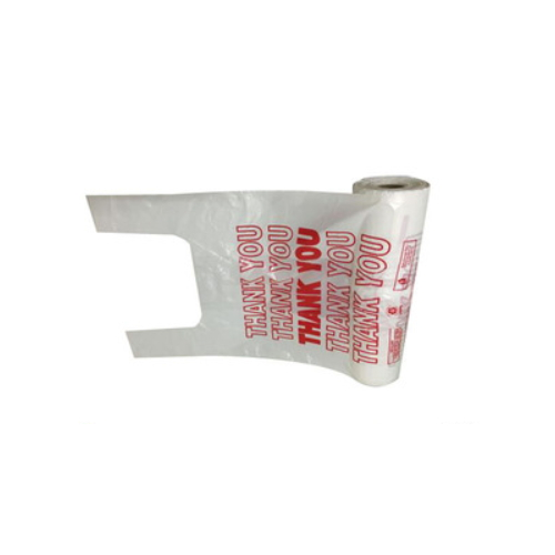 Thank you Printed Plastic T Shirt Bags on Roll Carry bags   HS109