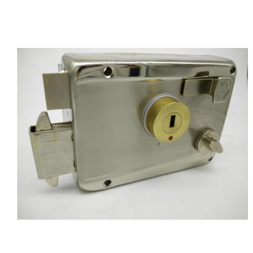 Door Security Rim Lock with Double Cylinder and Five Keys   ZS-4