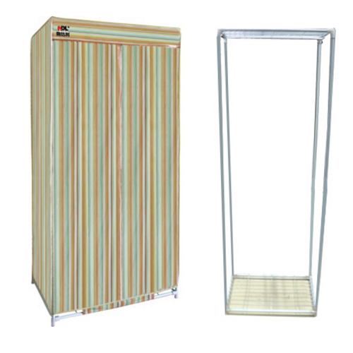 folding cloth wardrobe with sliding door cover  0604
