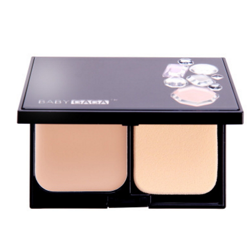 Waterproof Makeup Pressed Powder with Powder Puff and Mirror   GZ-1