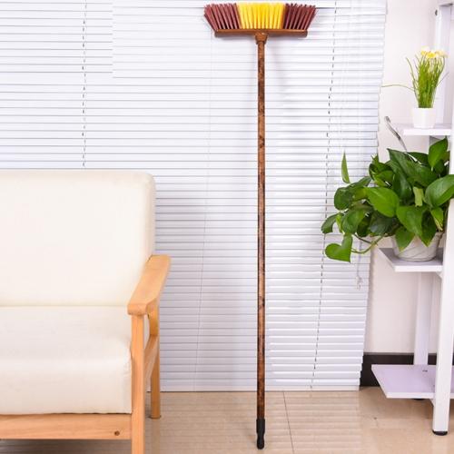good quality soft broom head with wood handle  5007