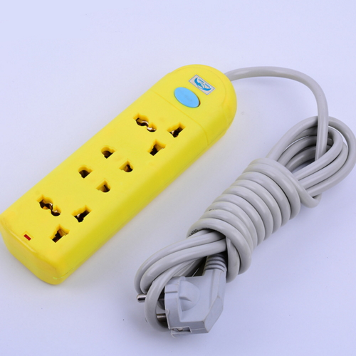 wall slim power strip 6 way electrical extension socket  AHL95