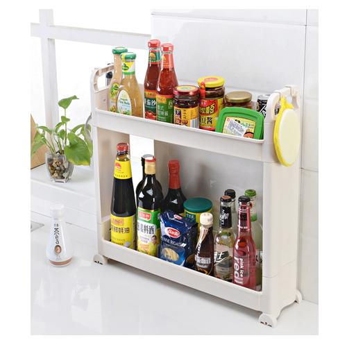 kitchen 2 layers sundries plastic shelf /removable plastic storage rack  hc--1502