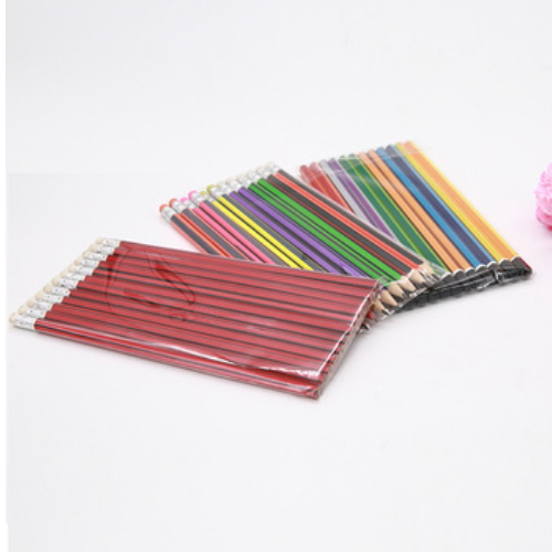 Natural wooden pencil with OEM logo , high quality color pencil HW003