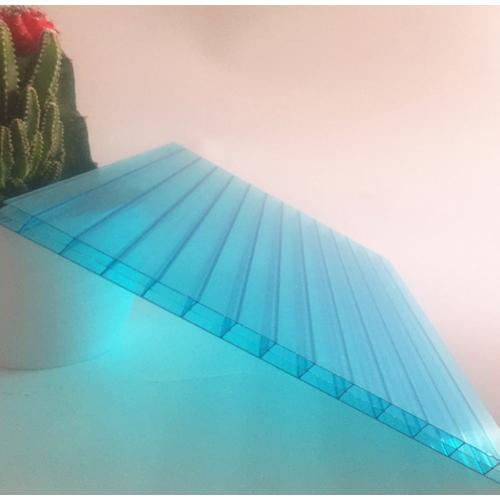 lake blue 10mm triple wall polycarbonate hollow sheet  019