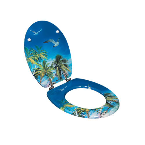 Decorative soft close printed MDF toilet seat  DW-31