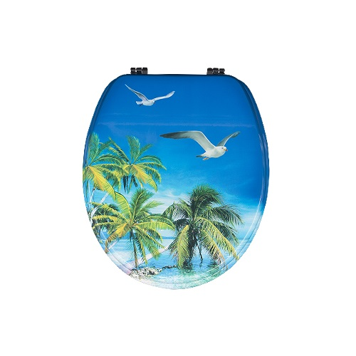 Decorative soft close printed MDF toilet seat  DW-31