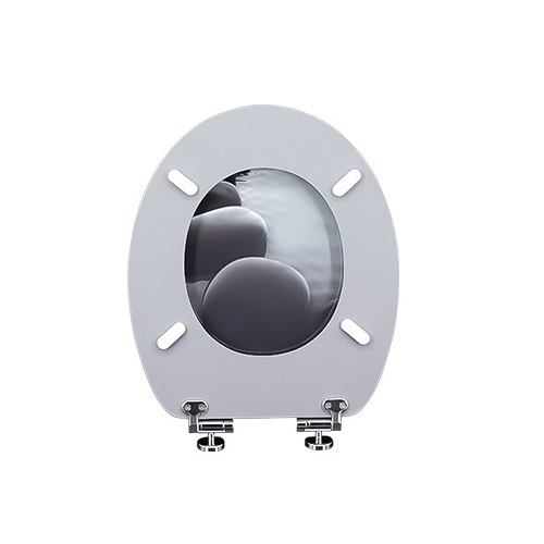 Wholesale custom bathroom fancy printed mould MDF fancy toilet seat   DW-30