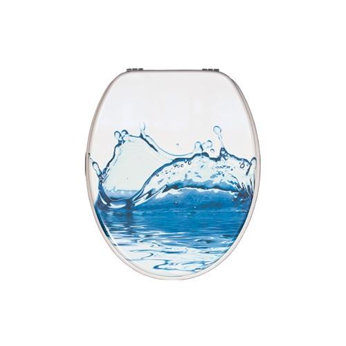 Family bathroom white duroplast toilet seat lid    DW-27