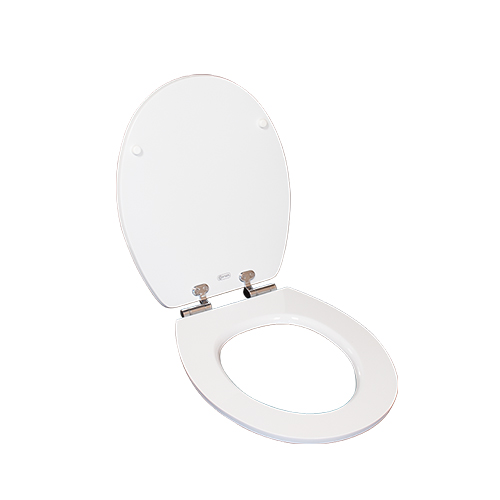 MDF toilet door O shape toilet seat self closing toilet seat Dw-019