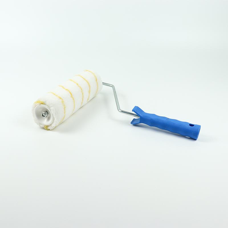 Wholesale Practical Zinc-plated PP+TPR Handle Paint Roller Brush  RM-06