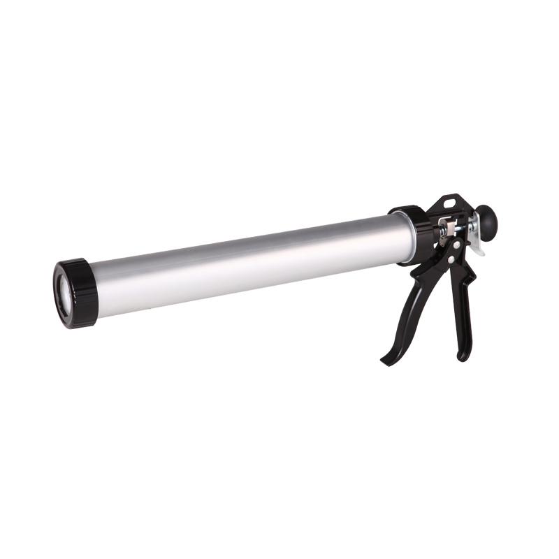 Aluminum Caulking Gun With Aluminum/Plastic Cap