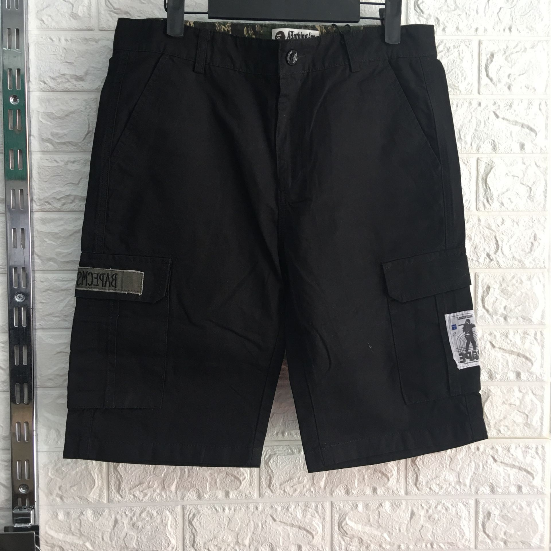 Men's slim fit cargo shorts cargo short pants for men QQ-002